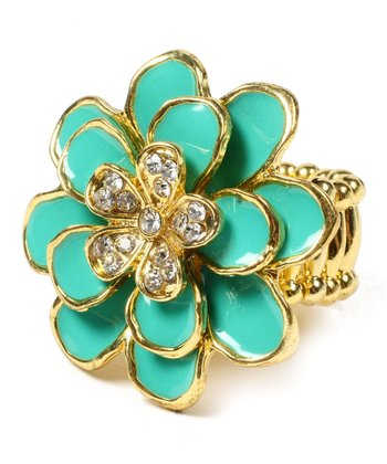 Turquoise & Gold Greenport Ring