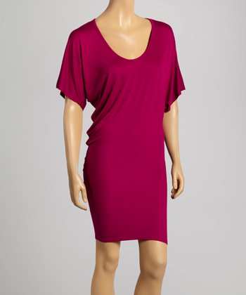 Magenta Tapered Dress