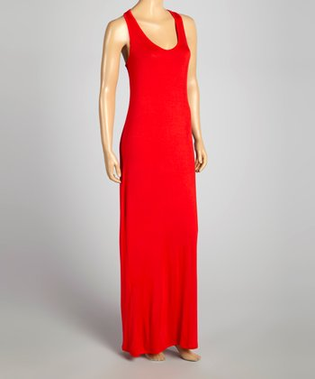 Red Racerback Maxi Dress