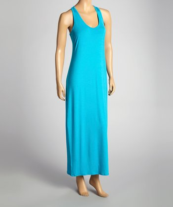 Turqouise Racerback Maxi Dress