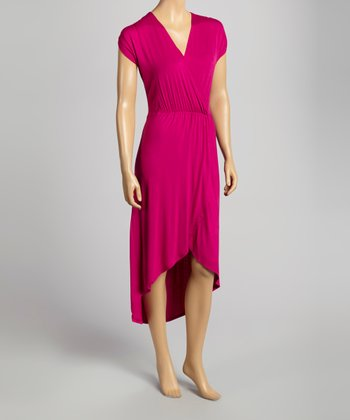 Magenta Surplice Dress