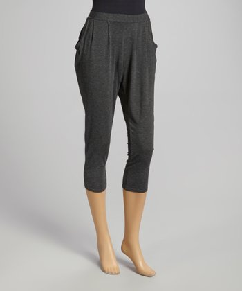 Charcoal Pleated Harem Pants