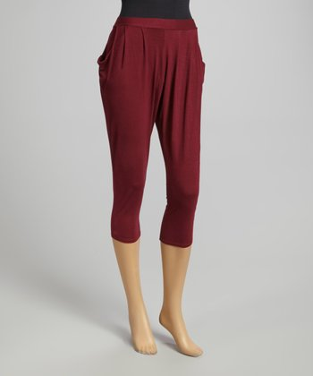 Plum Pleated Harem Pants