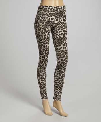 Brown & Black Leopard Leggings