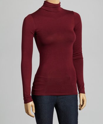 Plum Turtleneck