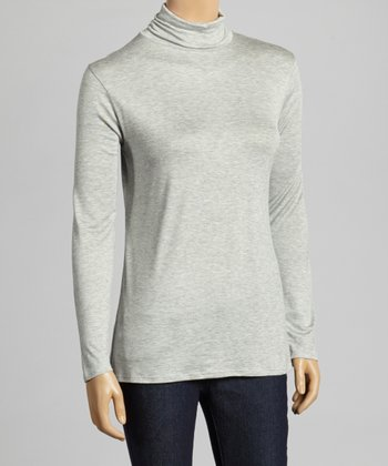 Heather Gray Turtleneck