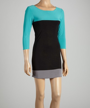 Jade Color Block Dress
