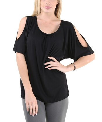 Black Cutout Top - Women