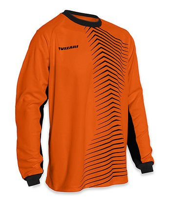 Vizari Orange & Black Novara Goalkeeper Jersey - Kids & Adult
