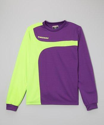 Vizari Green & Purple Livorno Goalkeeper Jersey - Kids & Adult