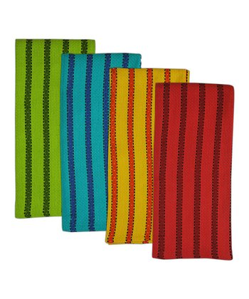 Bright Stripe La Cocina Dish Towel Set