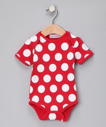 Red & White Polka Dot Bodysuit - Infant