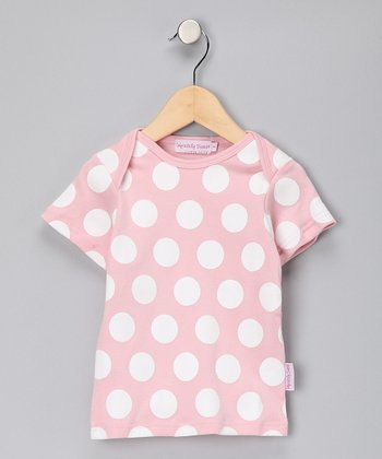 Pink & White Polka Dot Tee - Girls