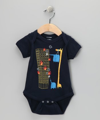 Navy The Fire Brigade Went on Strike Bodysuit - Infant