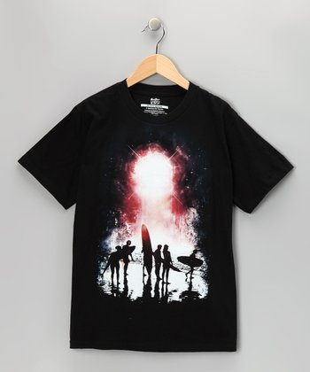 Black Spectacular Sunset Tee - Boys