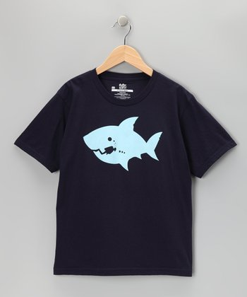 Navy Scuba Shark Tee - Boys