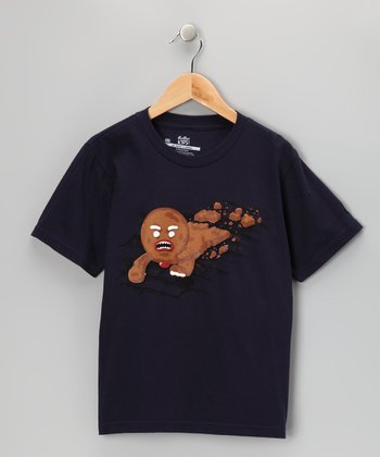 Navy Walking Cookie Tee - Boys