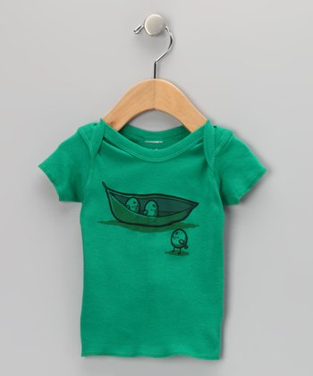 Dark Kelly Chick Peas Lapneck Tee - Infant
