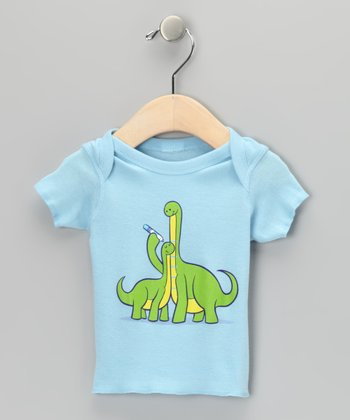 Baby Blue Dinosaur Growth Chart Lapneck Tee - Infant
