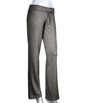 Heather Charcoal Raw Edge Yoga Pants