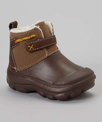Brown Fleece Boot