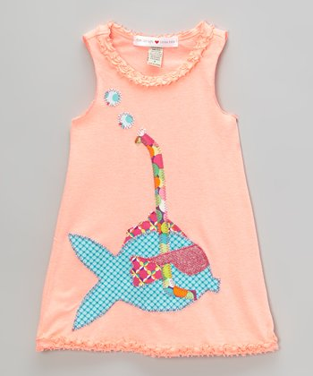Bubblegum Pink Snorkel Fish Tank Dress - Infant, Toddler & Girls