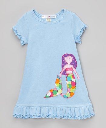 Blue Mermaid A-Line Dress- Infant, Toddler & Girls