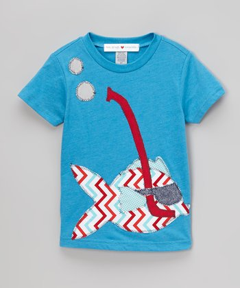 Royal Blue Snorkel Fish Tee - Infant, Toddler & Kids