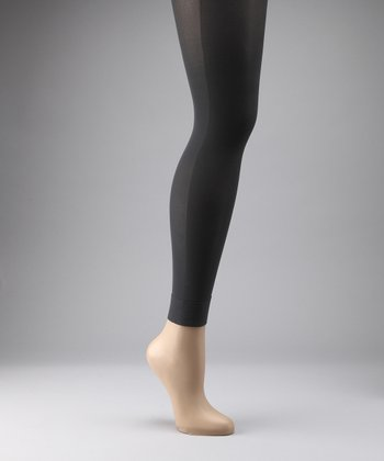 Preggers Coal Maternity Compression Footless Tights