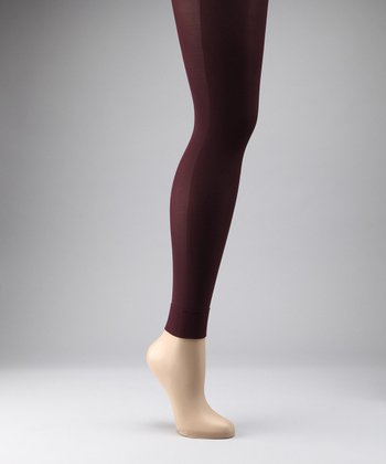 Aubergine Maternity Compression Footless Tights
