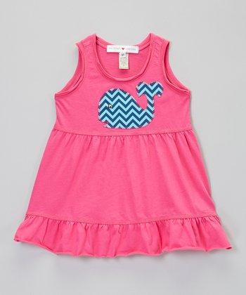 Fuchsia Whale Empire-Waist Dress - Infant, Toddler & Girls