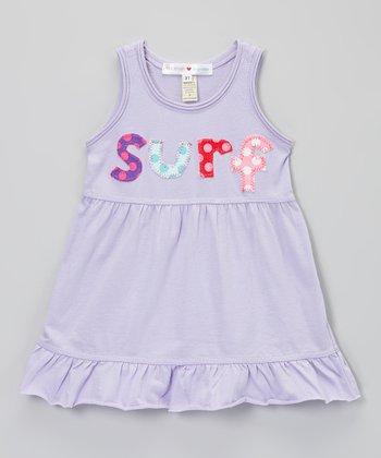 Lavender 'Surf' Empire-Waist Dress - Infant, Toddler & Girls