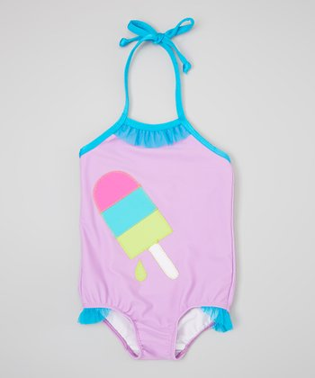 Purple & Turquoise Ice Cream One-Piece - Infant, Toddler & Girls