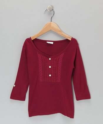 Magenta Lacy Tunic - Toddler & Girls
