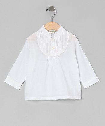 White Granny Top - Infant & Toddler