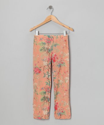 Sardinia Peach Floral Harem Pants - Infant, Toddler & Girls