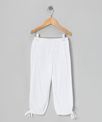 White Harem Pants - Toddler