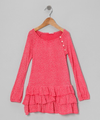Pink Chicken Feet Ruffle Dress - Toddler & Girls