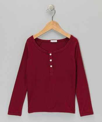 Magenta Cruz Henley - Toddler & Girls