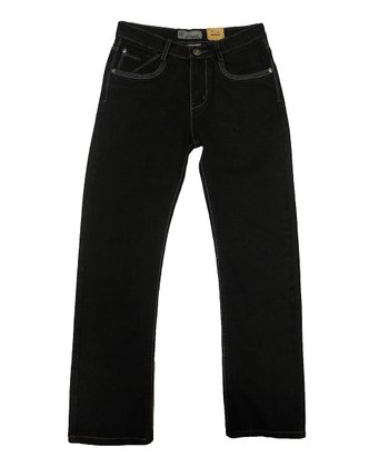 Black & White Fashion Jeans - Toddler