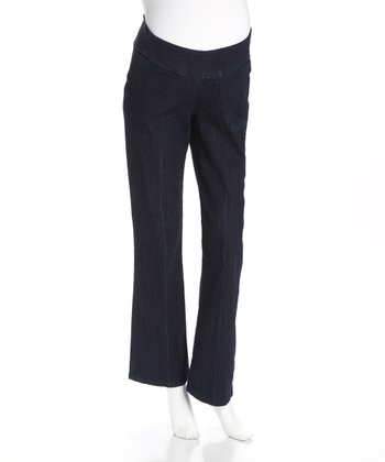 Dark Denim Under-Belly Maternity Trouser Jeans