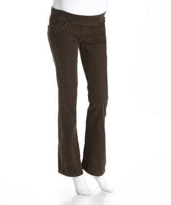 Olive Denim Maternity Jeans