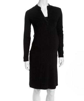 Black Classic Maternity Dress