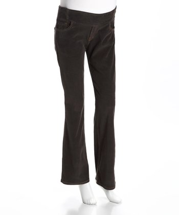 Dream Steel Corduroy Under-Belly Maternity Pants