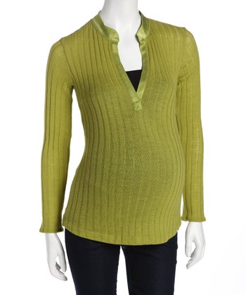 Lime Cashmere Maternity Sweater