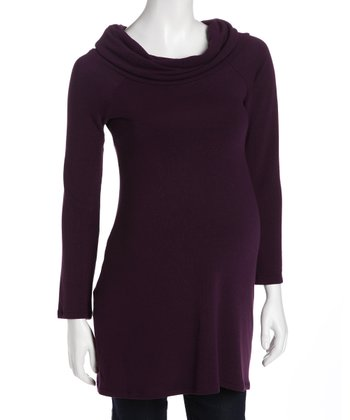 Plum Maternity Cowl Neck Sweater - Women