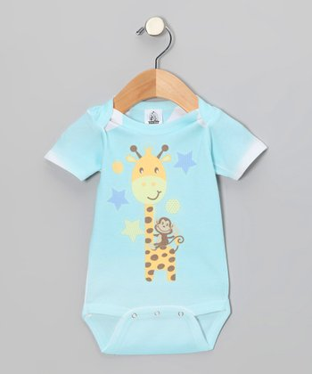 Aqua Giraffe Fun Bodysuit - Infant