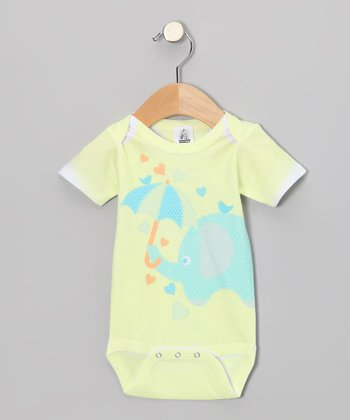Yellow Elephant Fun Bodysuit - Infant