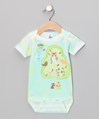 Light Mint Hoot Sweet Dreams Bodysuit - Infant