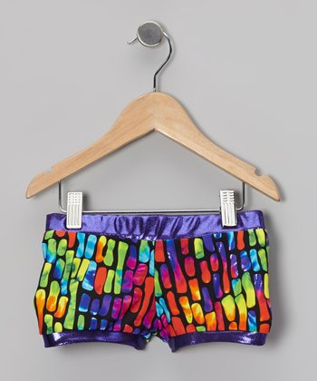 Butterfly TREASURES Purple Jelly Bean Foil-Trim Shorts - Toddler & Girls
